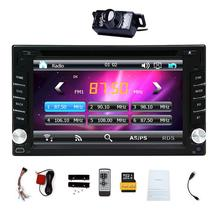 "HD 6.2"" Double 2Din Touch Screen Car styling cassette tape recorder PC CD DVD Player In Center console GPS Stereo Radio USB"