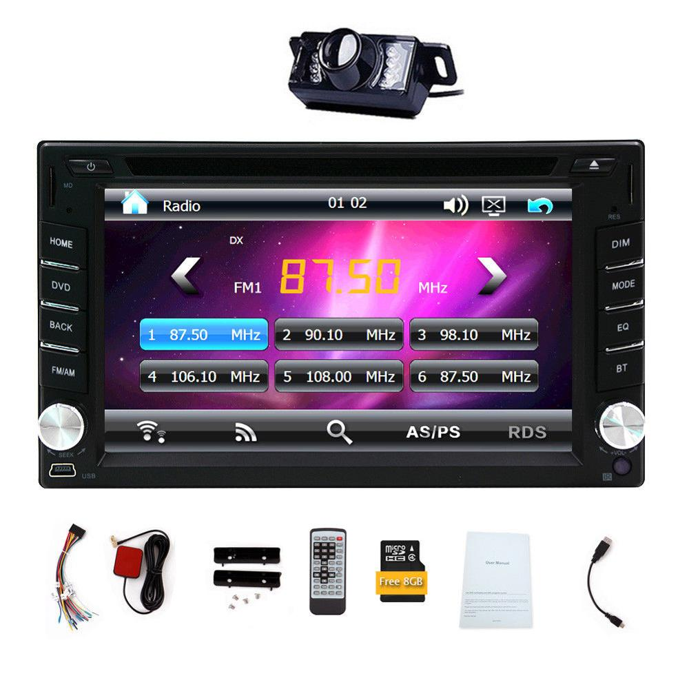 HD 6.2 Double 2Din Touch Screen Car styling cassette tape recorder PC CD DVD Player In Center console GPS Stereo Radio USB 2 din car radio mp5 player universal 7 inch hd bt usb tf fm aux input multimedia radio entertainment with rear view camera
