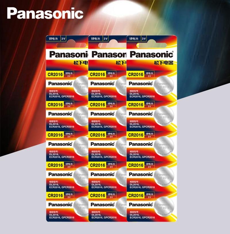 Panasonic Высокое качество литиевая батарея 15 шт./лот 3V cr2016 Кнопка батарея часы монета батареи cr 2016 DL2016 ECR2016