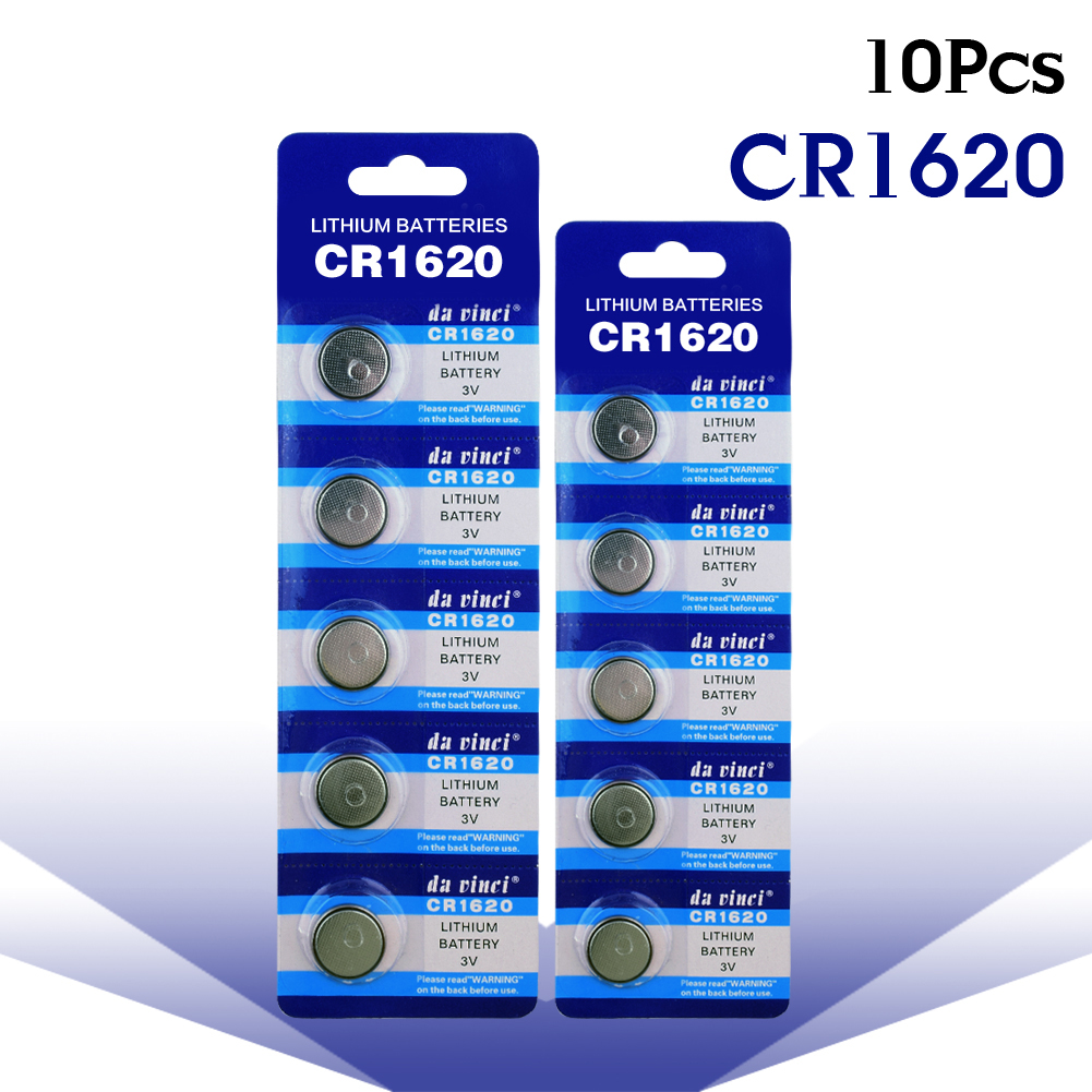 YCDC 10pcs/Lot CR1620 1620 ECR1620 DL1620 280-208 3V Cell Battery Button Battery, lithium battery For Watches,clocks