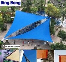 USA free Outdoor sun shade sail garden netting 3*4*5m PU waterproof sunblock shade cloth awning gazebo canopy car cover tents