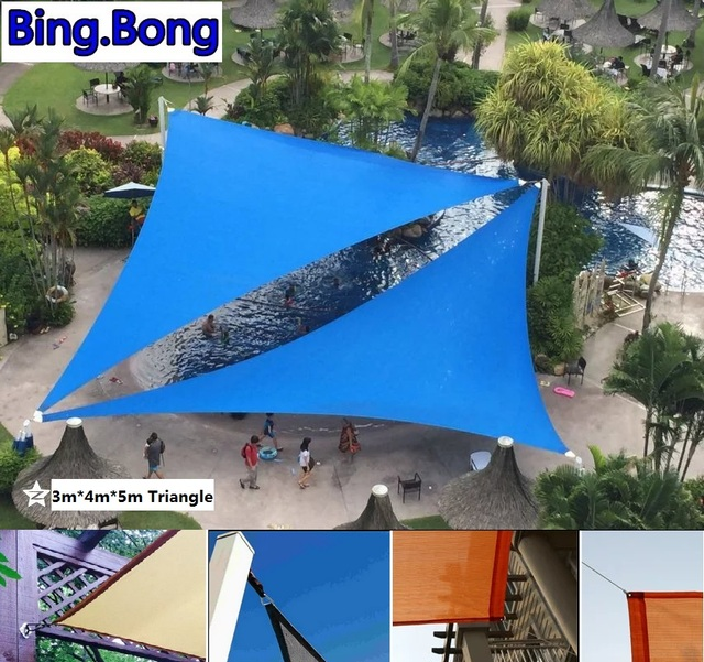 usa free outdoor sun shade sail garden netting 345m pu waterproof sunblock