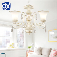DX Luxury Modern Resin Chandelier Lighting Living Room Lamp E27 Well Package Lustres Para Quarto Crystal