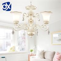 DX Luxury Modern Resin Chandelier Lighting Living Room Lamp E27 Well Package Lustres Para Quarto Crystal