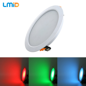 LMID DC24V 30W 36W Round  Panel LED Aluminum COB LED Panel Light Surface Mounted Downlight Ceiling Down Lamp