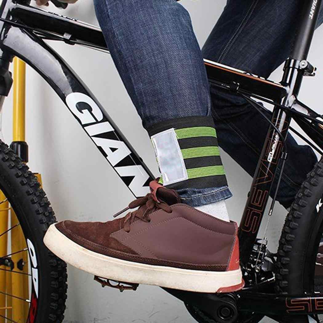 חדש 2 יחידות אופני רעיוני קרסול רגל קלטת להקת חיצוני רכיבה על אופניים מכנסיים מכנסיים להקות קליפים רצועת אופניים אביזרי ציוד מגן