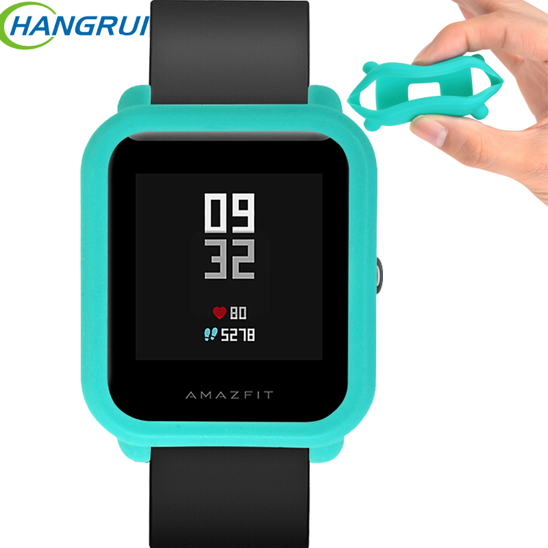 Soft silicone case for xiaomi huami amazfit bip bit pace lite youth smart watch screen protector scratch-resistant frame cover цена 2017