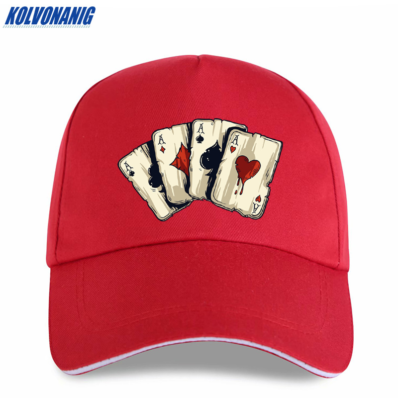 KOLVONANIG Summer Fashion Brand Poker Spades A Interesting Print Men 39 s Baseball Caps Casual hip hop Cotton Women trucker cap hat in Men 39 s Baseball Caps from Apparel Accessories
