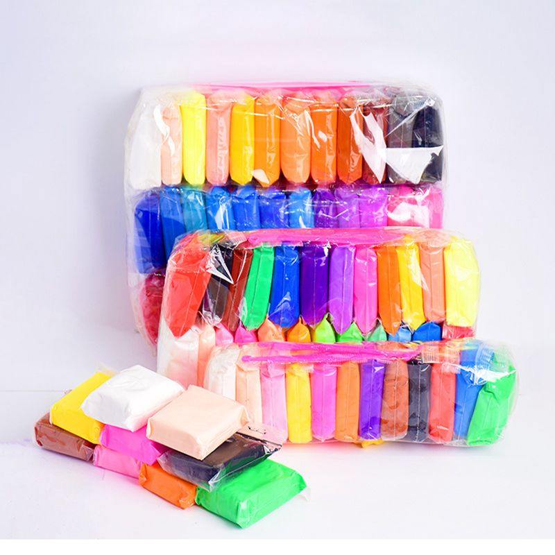 Super Light Clay Modeling Clay Kids Plasticine Polymer Air Dry Clay Toy Creative DIY Clay With 3 Tools Children Educational Clay