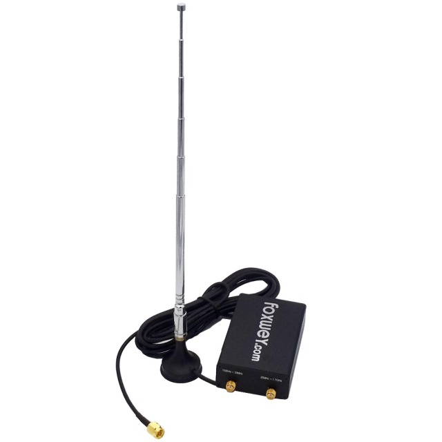 New  RTL SDR radio receiver with Chip  RTL2832 SDR and  R820T2  for 100KHz-1.7GHz full spectrum