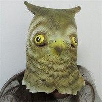 Hot Sell Creative Halloween Animal Masks Mild Birds Natural Latex Retaining Cap Cute Owl Party Masks Joking Fancy Ball Props
