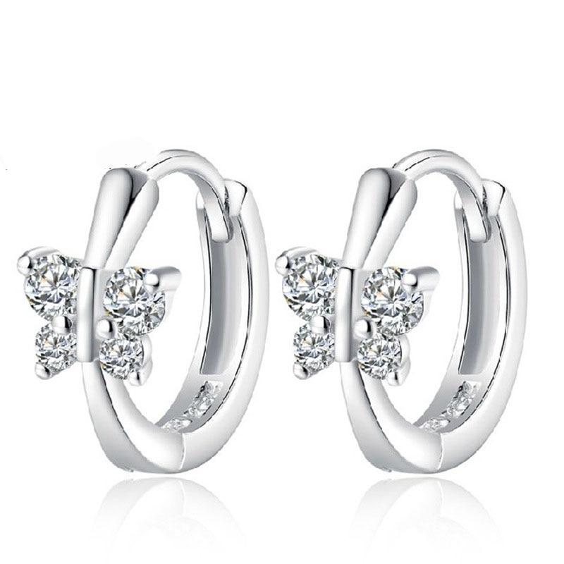 PATICO Free Ship Fashion Nice font b Jewelry b font 925 Sterling Silver Earring Embed CZ