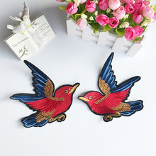 Squisita Grande Fly Birds Zone Del Ricamo FAI DA TE Accessori Abbigliamento Patch Decorativi Nuova Moda Spilla(China)