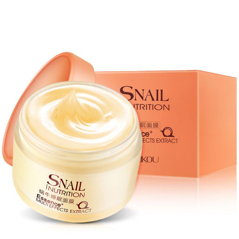 Snail Sleeping Mask Anti Wrinkle Anti Aging Snail Moist Nourishing Facial Cream Cream Imported Raw Materials Skin Care