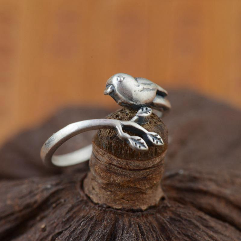 925 Sterling Silver Bird Ring