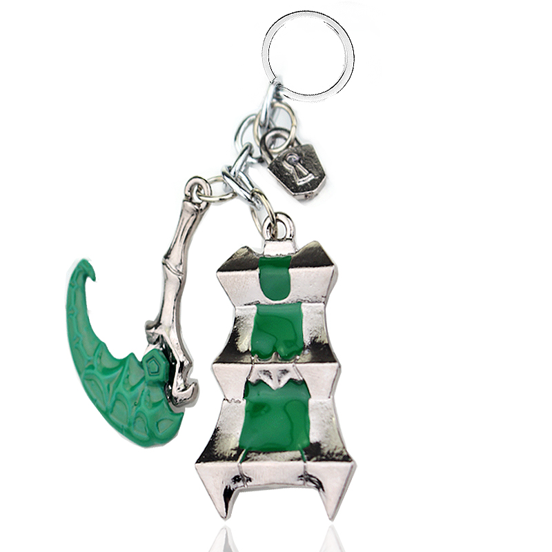 League Of Legend Keychain Holder Chaveiro LOL Thresh Weapon Sickle Hook The Chain Warden  Key Chain Jewelry