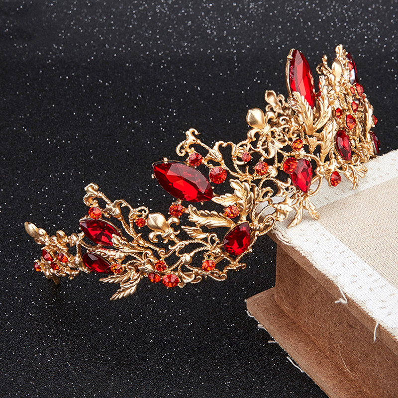 HIMSTORY Luxury Princess Queen Crown European Baroque Large Hair - Նորաձև զարդեր - Լուսանկար 5