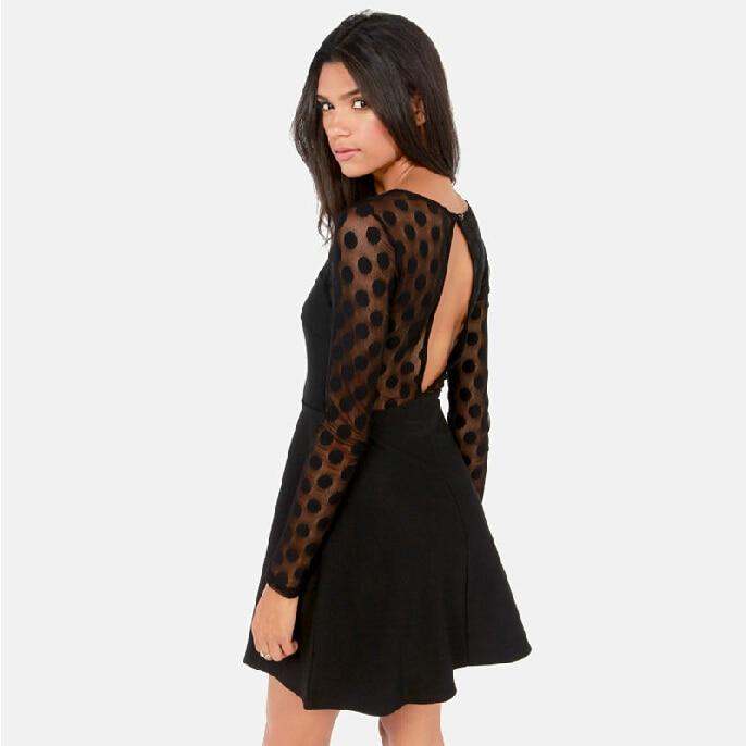 coco channel polka dot dress perspective mesh sheath mini dresses vestidos blacknew summer casual sexy women thin clothiin dresses from womenus