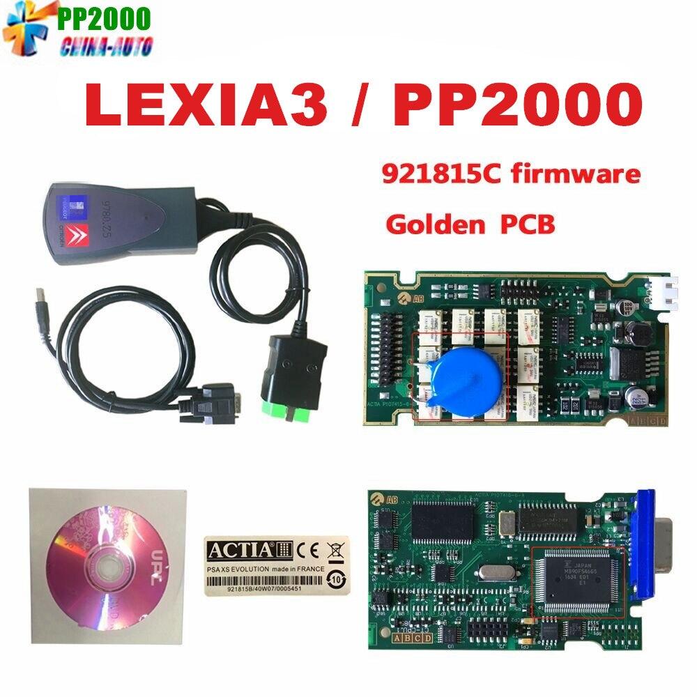 2018 neueste Lexia3 mit Serielle 921815C Firmware Goldene PCB lexia PP2000 Lexia 3 Diagbox V7.83 Lexia-3 diagnose werkzeug