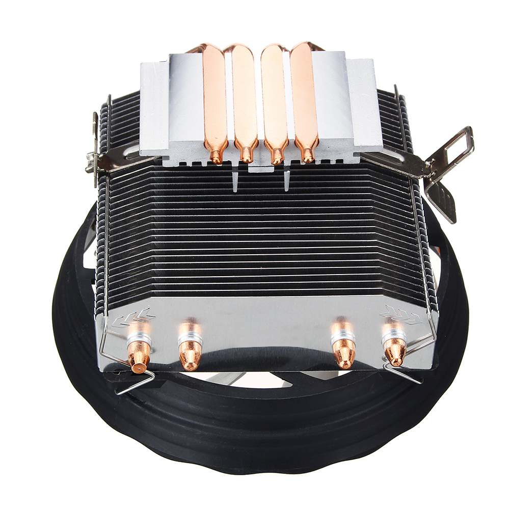 Image 4 - 4 Heatpipes 120mm CPU Cooler LED RGB Fan for Intel LGA 1155/1151/1150/1366 AMD Good quality Horizontal CPU Cooler-in Fans & Cooling from Computer & Office
