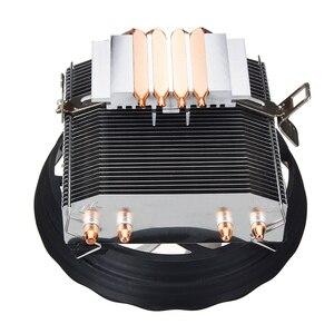 Image 4 - 4 Heatpipes 120mm CPU Cooler LED RGB Fan for Intel LGA 1155/1151/1150/1366 AMD Good quality Horizontal CPU Cooler