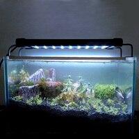 Fish Tank Aquarium SMD LED Lamp/Light 11W 50CM White Blue 2 Mode Extendable US LED lighting for fish bowel illumination bulbs