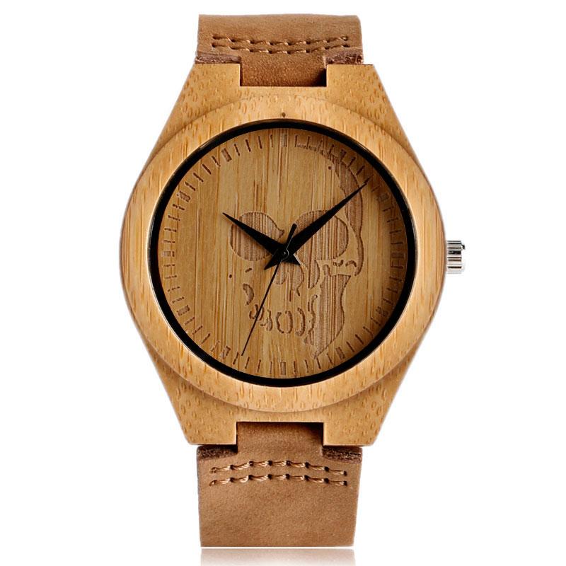 Reloj de madera creativo Minimalista Trendy Bamboo Bamboo / Deer / - Relojes para hombres - foto 3