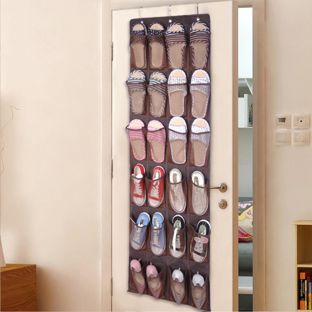2017 shoes storage rack 24 lattice shoes organizer space saving storage bag non woven nylon - Shoe storage small space pict ...