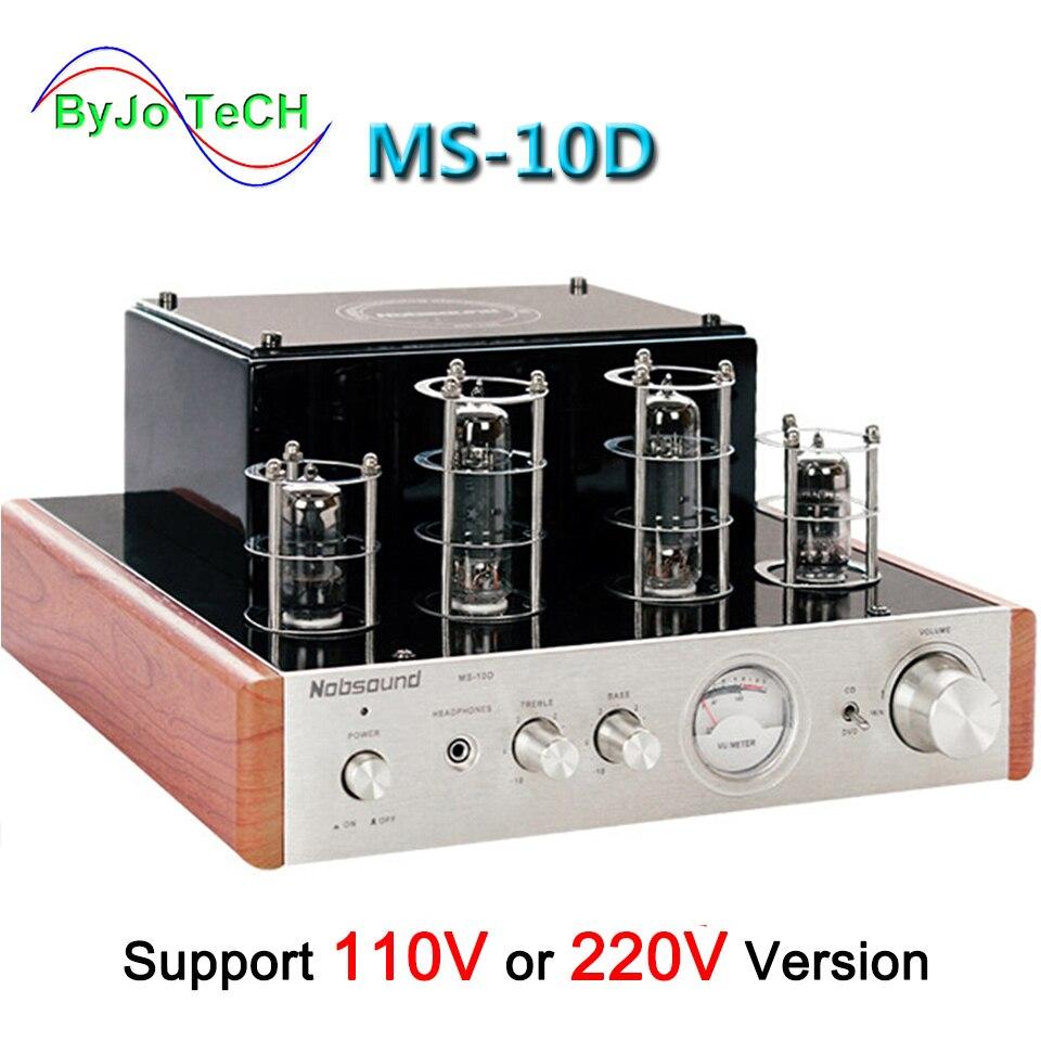 Nobsound MS-10D Tube Amplificateur Audio Amplificateur de Puissance 25 w * 2 Vide amplificateurs Soutien 110 v ou 220 v Hifi amplificateur MS 10D