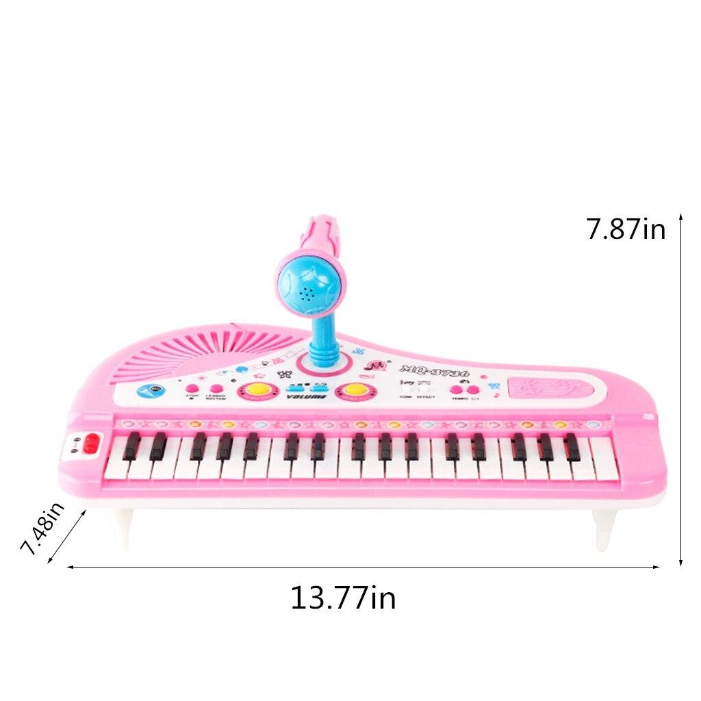 MUQGEW Piano jouet pour enfants 37 clés Instrument électronique Microphone multifonctionnel juguetes educativos enfants jouets - 6