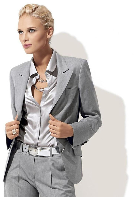 Aliexpress.com : Buy Custom Fashion Light Grey Women Tuxedos ...