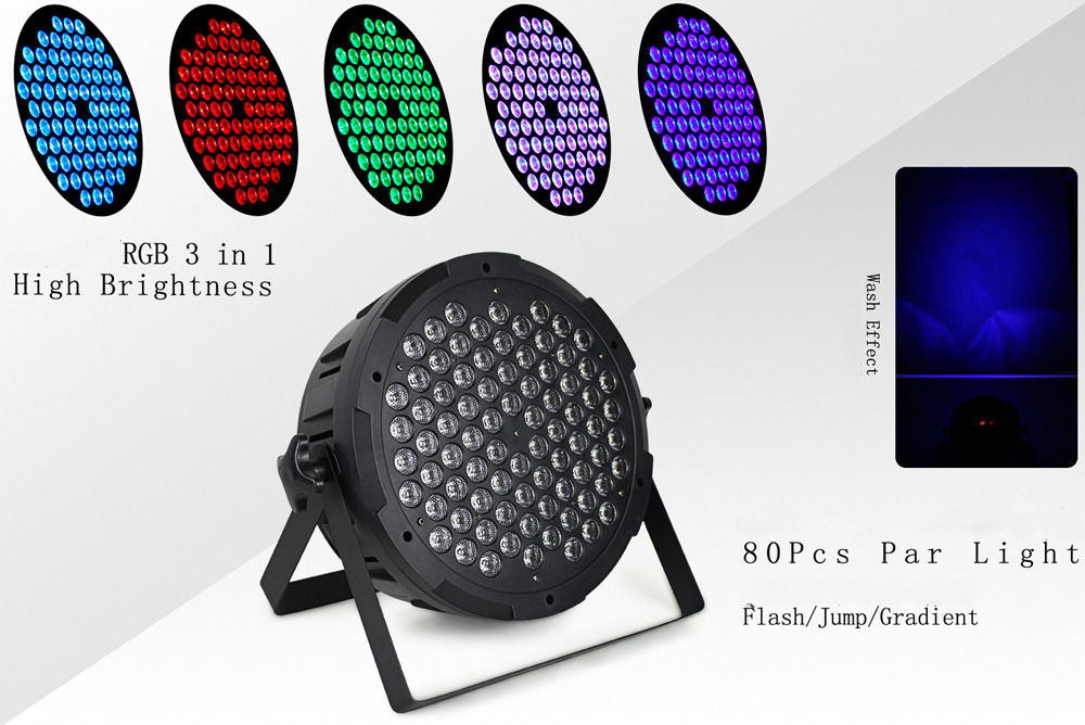 2XLot LED Flat Par 80X1W Stage Lights Effect RGB DMX512 DJ Disco Lamp KTV Party Backlight Laser Beam Projector DMX Spotlight 9w 24 pattern led par rgb laser projector dmx rotating professional controller stage light dj disco ktv party sound auto mode