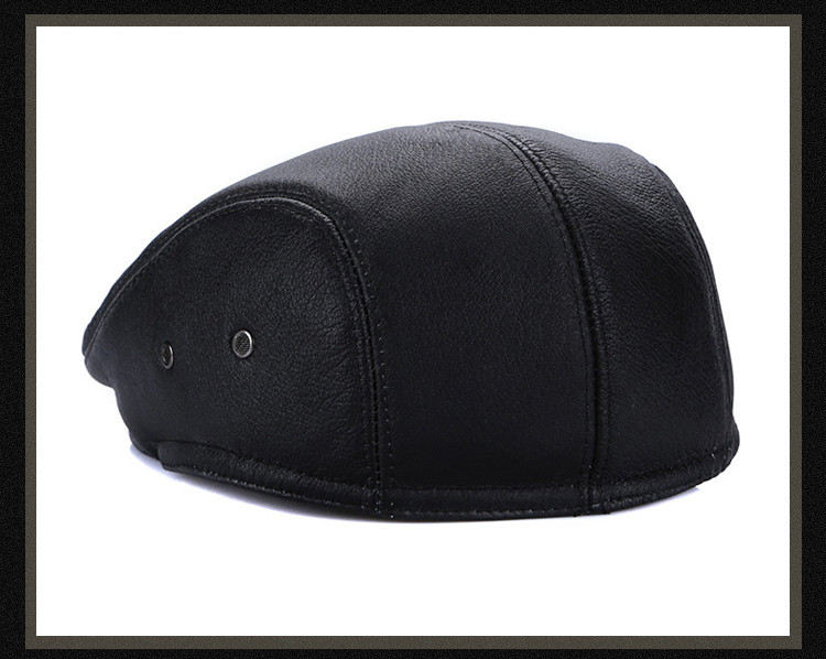 men leather captain hat natural cow (15)