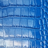 Mirro Pattern Synthetic PU Imitation Crocodile Skin Embossed Leather Fabric Material