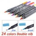 Художественный графический маркер для рисования манги  акварельные чернила с двойным наконечником  кисть с тонким наконечником для скетчи...