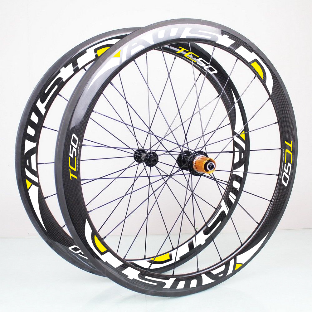 Light weight carbon wheels 38mm 700c bicycle wheel 50mm 18 21 holes roues carbone route carbon road wheels tubular and clincher new design carbon wheel titanium material light and more safe 50mm clincher 700c