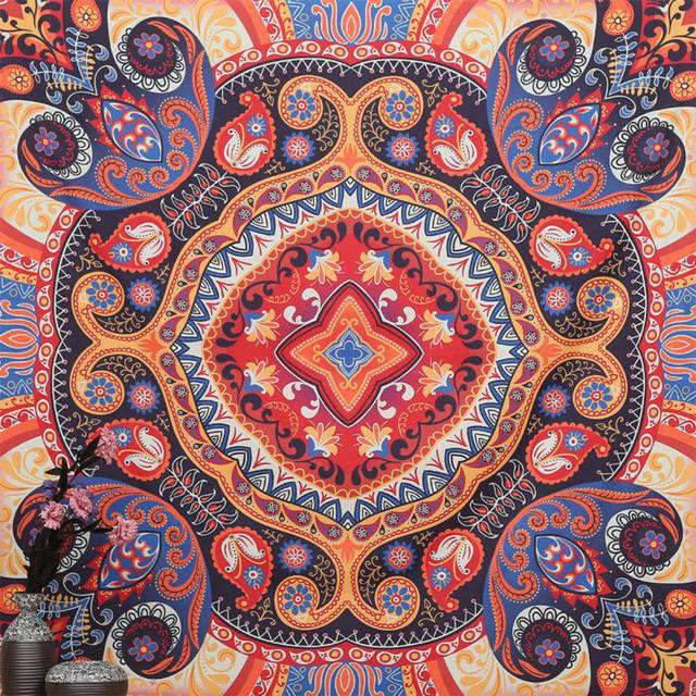 Indian Tapestry Wall Hanging aliexpress : buy colorful square tapestry psychedelic