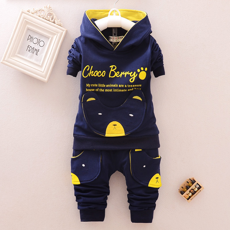 Toddler Suit For Boy Cartoon Fashion Outfits Bear Print ...