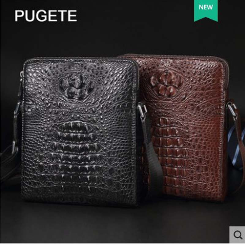 Pugete 2019 nieuwe krokodillenleer man tas lederen zakelijke enkele schoudertas jeugd leisure kruis tas mode krokodil man tas - 4