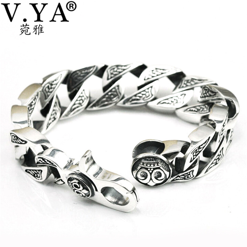 men jewelry  Real Pure sterling Silver Bracelet men jewelry Genuine skeleton