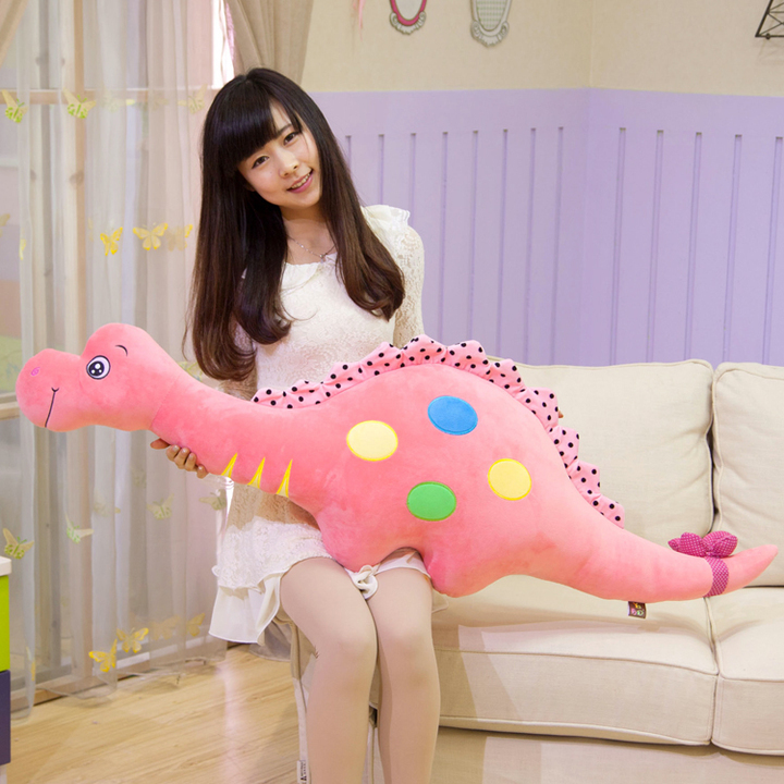 huge lovely plush pink dinosaur toy big new creative dinosaur pillow doll gift about 135cm big size new creative simulaiton zebra toy plush huge zebra model doll gift doll about 110x90cm