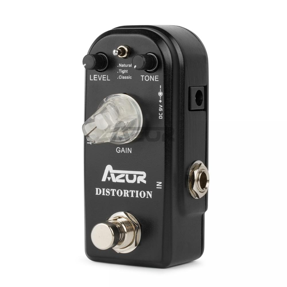 AZOR AP-302 Distortion Mini Guitar Effect Pedal Distortion Pedal Guitar Effects 3 Modes Azor Mini Pedal Guitar Parts Accessories