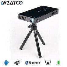 WZATCO CT50S Mini Led Projecteur Portable Intelligent WIFI Projecteur De Poche Android 4.4/7.1 HDMI USB SD Home Cinéma Beamer Proyector