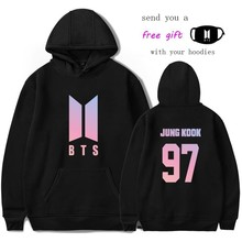 BTS Hoodie Jungkook Suga jimin Sweatshirt Women Hoodies Love Yourself Bts Print Sweatshirt Women Pullovers Kpop Bangtan Boys top(China)