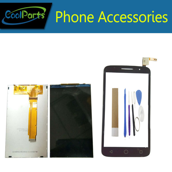 1PC/Lot For <font><b>Alcatel</b></font> One Touch POP 2 7043A 7043Y <font><b>7043K</b></font> 7043 OT7043 LCD Display+Touch Screen Digitizer Black Color With Tape&Tool image