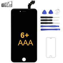 цена на Grade AAA+++ White Black Display For iPhone 6 Plus LCD Touch Screen Panel Digitizer Assembly Mobile Phone Repair Replacement