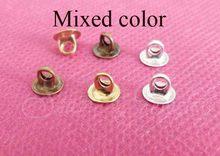 100 unids lote 6mm extremo plano superior conector tapa cierre para diy  cristal burbuja botella · 4 colores disponibles 761ff17f7f11