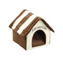 Plush Pet Dog House Cat Bed Pet Supplies