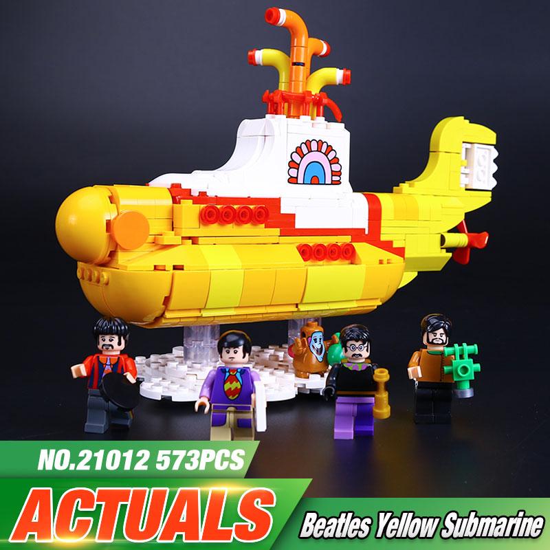 ФОТО Lepin 21012 The Beatles John Winston Lennon Paul McCartney Harrison Ringo Starr Yellow Submarine Building Blocks Models Toys