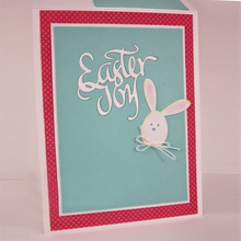 Easter Joy Alphabet Metal Cutting Die Handmade Decoration Card Album Photo Making Scrapbooking Template Embossing Stencil